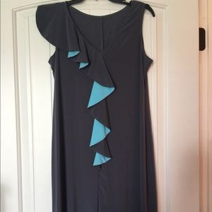 Dresses & Skirts - Gray with blue accents dress size medium